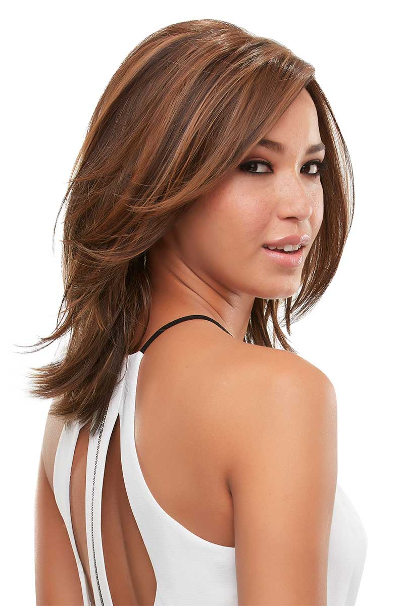 shoulder length brunette